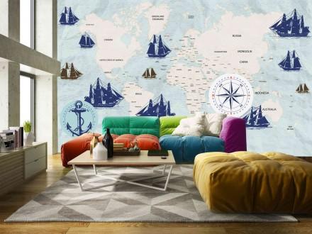 Fotomural Navigation World Map