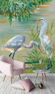 Fotomural Lake Birds