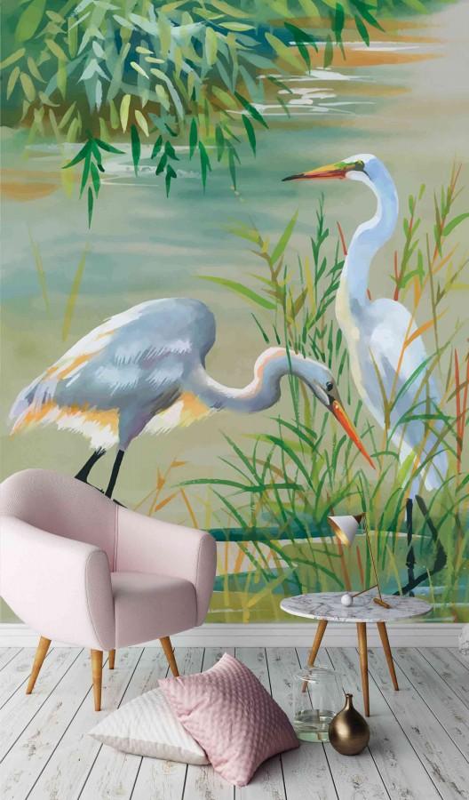 Fotomural Lake Birds A08-M1029   A08-M1029