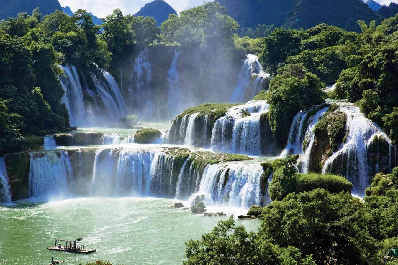 Fotomural Ban Gioc Waterfall A08-M873 Fotomural Ban Gioc Waterfall A08-M873