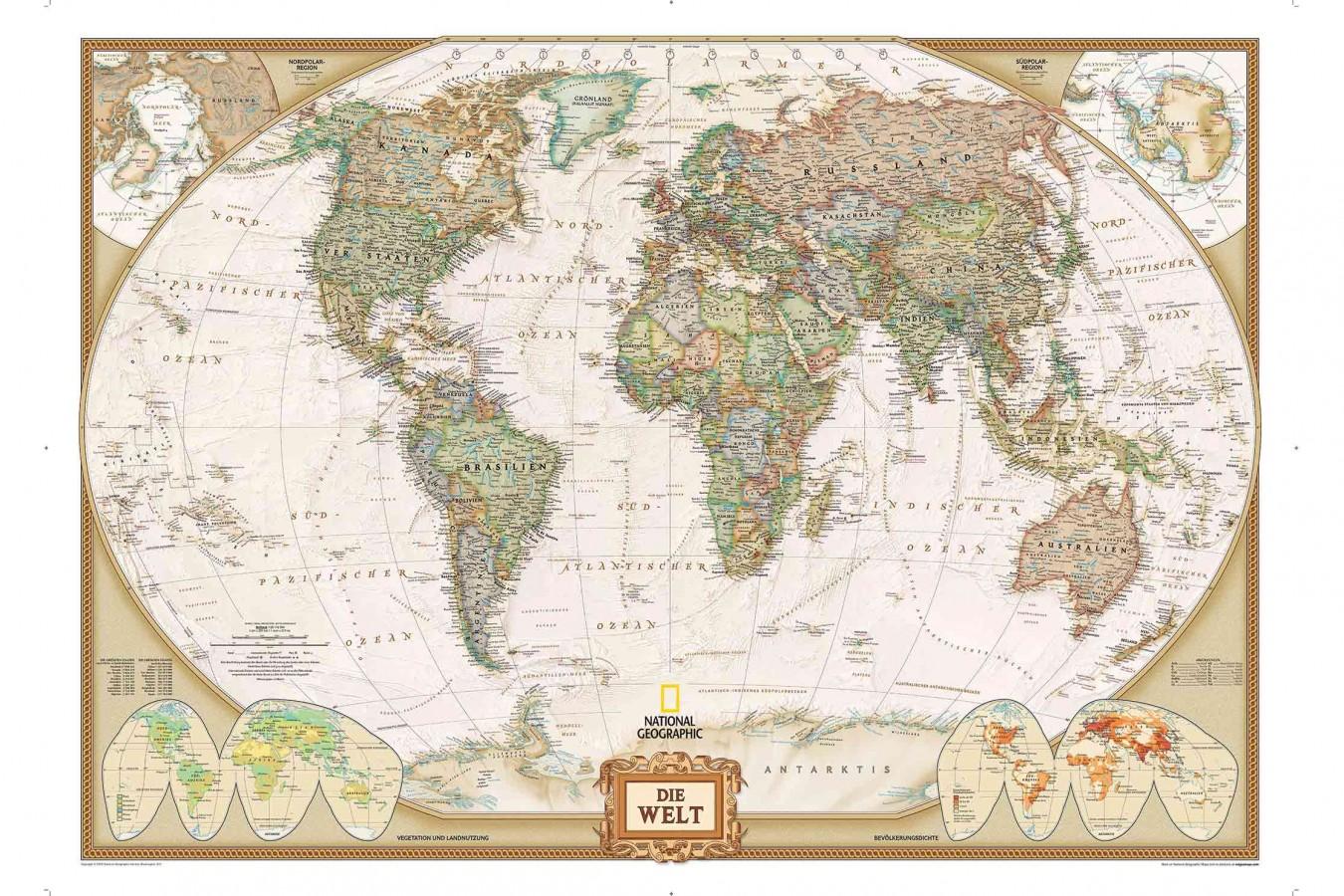 Fotomural German World Map A08-M900 Fotomural German World Map A08-M900