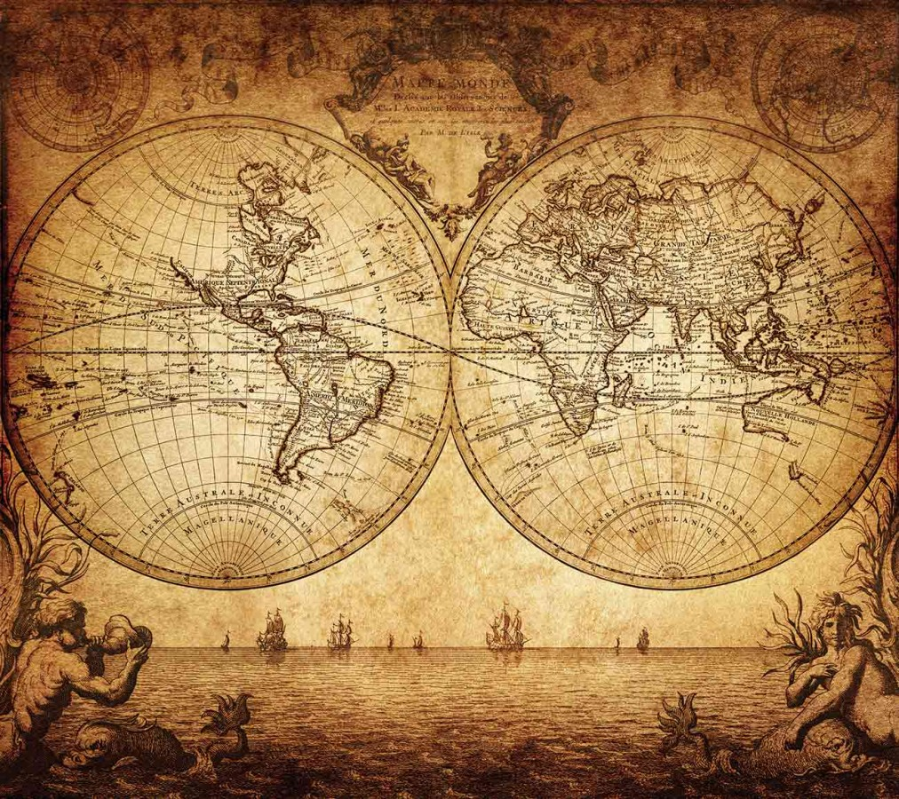 Fotomural Ancient World Map A08-M902 Fotomural Ancient World Map A08-M902