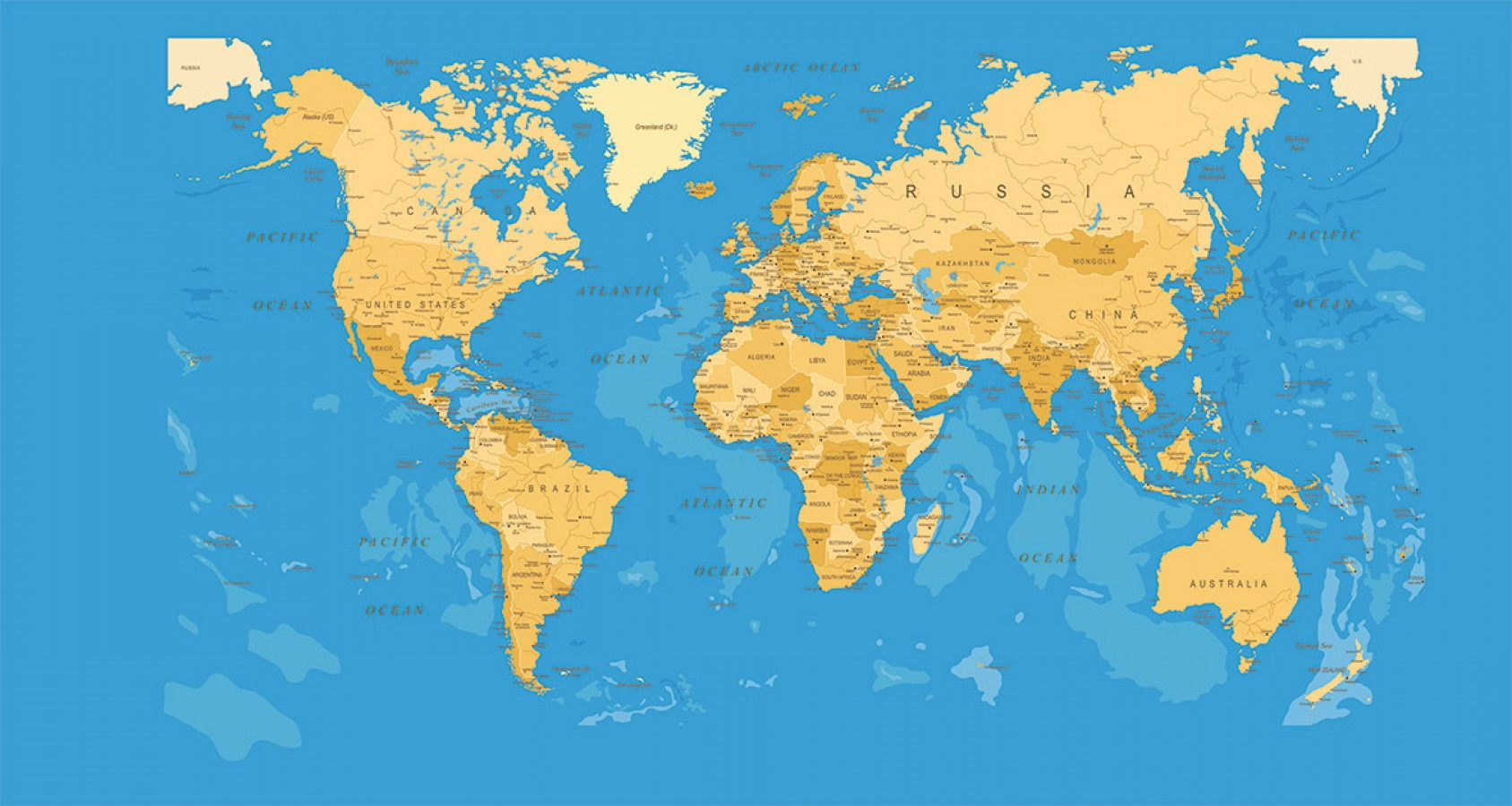 Fotomural Young World Map A08-M909 Fotomural Young World Map A08-M909