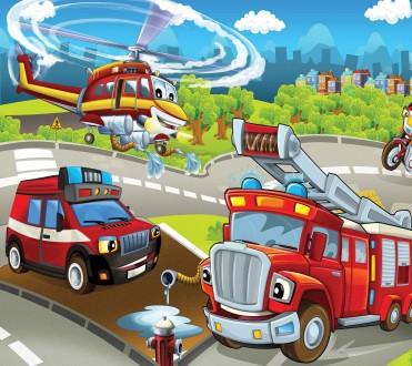 Fotomural Firemen Toys A08-M958-3 Fotomural Firemen Toys A08-M958-3