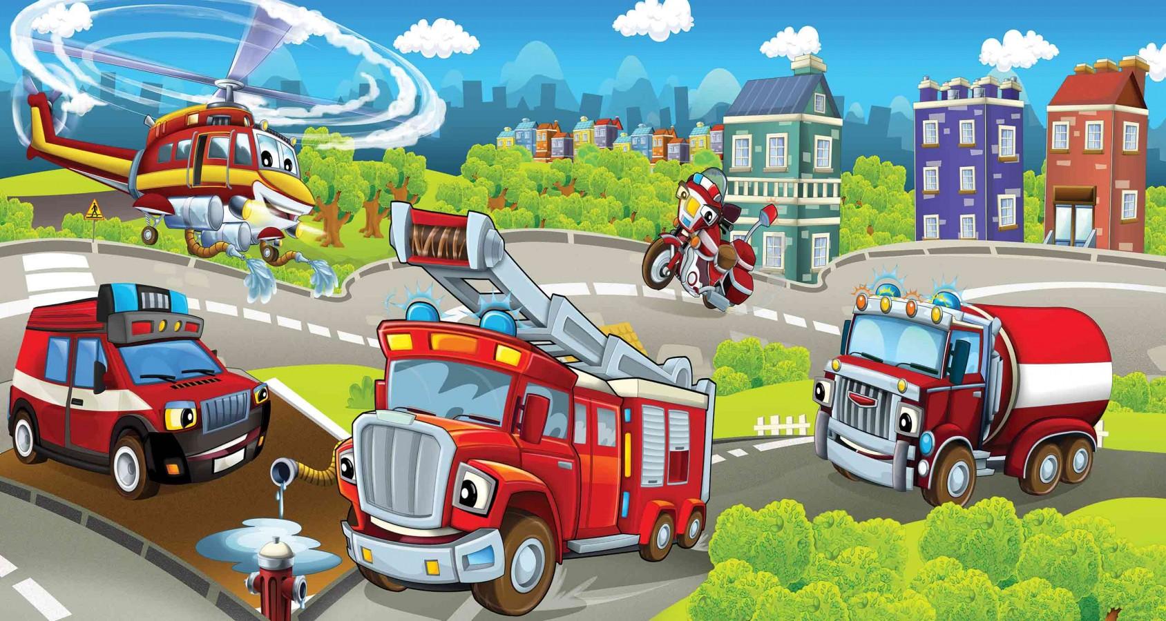 Fotomural Firemen Toys A08-M958   A08-M958